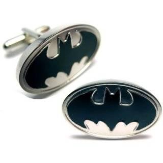 Black and Silver Batman Cufflinks Jewelry