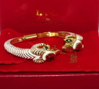 KJL Kenneth Jay Lane Ravishing Rams Head Bangle Bracelet Average Size