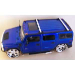 Scale Diecast Big Time Kustoms Hummer H2 in Color Blue: Toys & Games