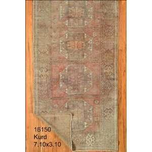 3x7 Hand Knotted Kurd Kurdistan Rug   310x710: Home