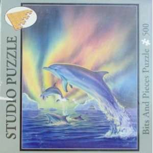 Studio 500 Piece Puzzle   Robin Koni Cosmic Dolphins Toys & Games