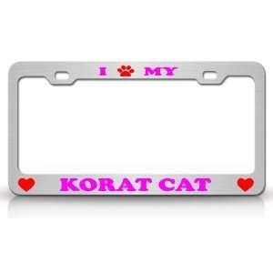 I PAW MY KORAT Cat Pet Animal High Quality STEEL /METAL