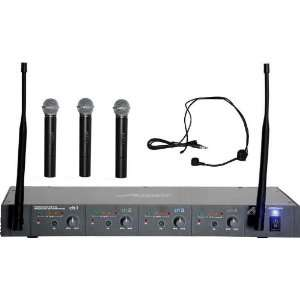 2000 Wireless Microphone System 4 Channel + 3 Handheld Microphones