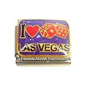I Love Las Vegas Italian Charm Bracelet Jewelry Link Jewelry