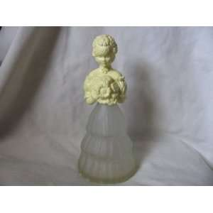 Avon Yellow Flower Girl Figurine Cologne Bottle