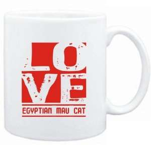 Mug White  LOVE Egyptian Mau  Cats