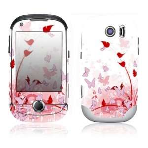 Samsung Corby Pro Decal Skin Sticker   Pink Butterfly Fantasy