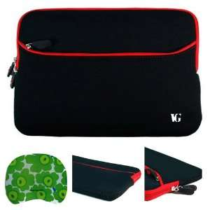 Black with Red Edge Laptop Sleeve Water Resistant Case with Zippered