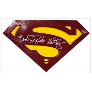 Brandon Routh and Kate Bosworth Autographed Superman
