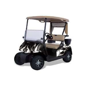 Golf Cart Graphic Kit (1996 2010) Tribal Flames  Black  Automotive