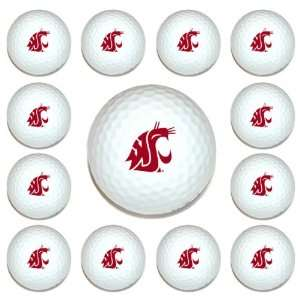 Washington State Cougars Team Logo Golf Ball Dozen Pack   Golf