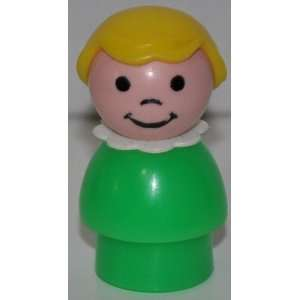 Vintage Little People Girl (Blond Hair, White Neckerchief