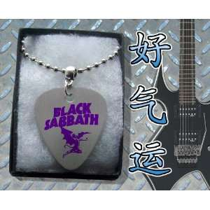 Black Sabbath Devil Metal Guitar Pick Necklace Boxed