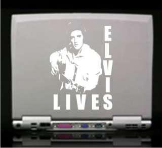 Elvis Lives Decal Sticker   Car Truck Window Laptop