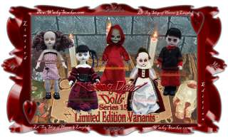 Living Dead Dolls Series 15 Variants Set of 5 Death Bathory NEAR MINT
