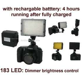 520lm LED Light with Rechargable Battery (4 hours running) for Nikon