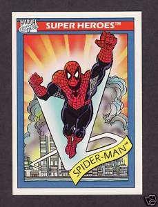 Spider Man Marvel Super Heros Trading Card 1990