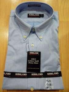 NEW MENS KIRKLAND SIGNATURE 100/2 Cotton Dress Shirt