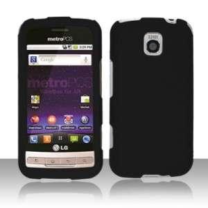 Fit LG OPTIMUS C Cricket Phone Cover Hard Case BLACK