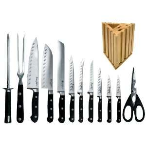 13 Piece Professional Knife Set with Wooden Block