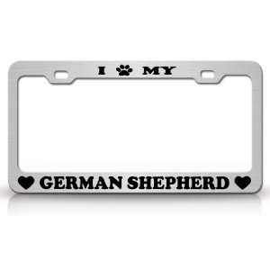 PAW MY GERMAN SHEPHERD Dog Pet Animal High Quality STEEL /METAL Auto