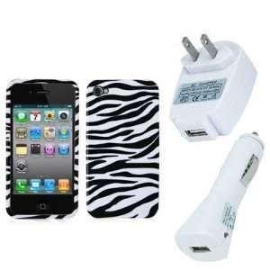 Electromaster(TM) Brand   Black / White Zebra Design Crystal Hard Skin