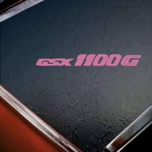 Suzuki Pink Decal GSXR 1100 Car Truck Bumper Window Pink Sticker
