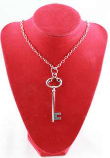 Tibetan Silver Skeleton Key Pendant Necklace E20007