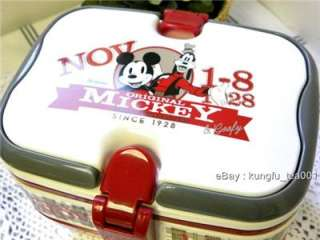 2Tier Disney Mickey Mouse Bento Lunch Box w Handle