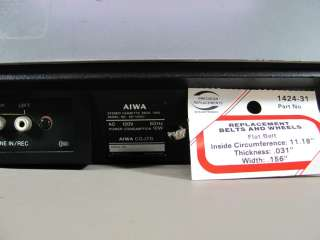 Vintage AIWA Single Stereo Cassette Deck AD 1260U