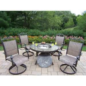 Oakland Living Stone Art 44 in. Deep Seating Chat Set with