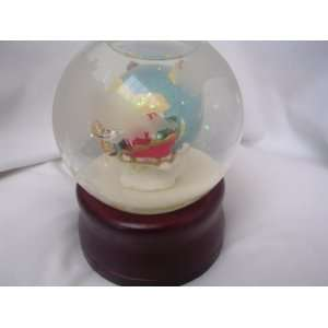 Christmas Musical Snow Globe Revolving 5 Collectible ; Joy to the