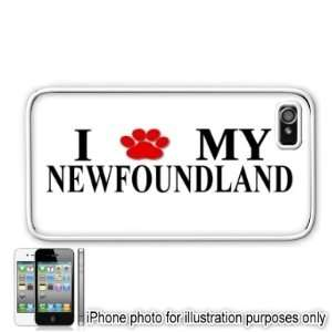 Newfoundland Paw Love Dog Apple iPhone 4 4S Case Cover White