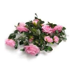 Light Pink Silk Rose Garland Wedding Flowers