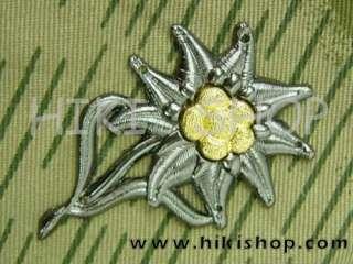WWII German Mountain Troop EM Cap Insignia