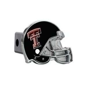 Tech Red Raiders Metal Helmet Trailer Hitch Cover