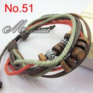 Fashion Jewelry Hemp Leather Braided Bracelet Wristband