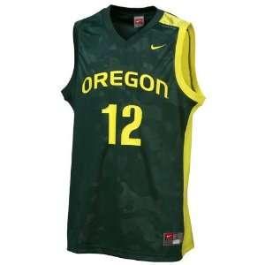 Nike Oregon Ducks #12 Green Replica Basketball Jersey