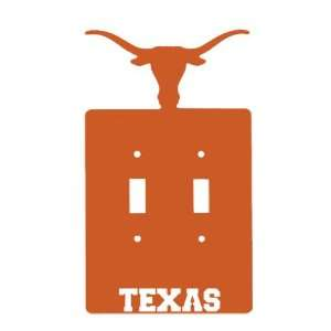 Texas Longhorns Double Toggle Metal Switch Plate Cover