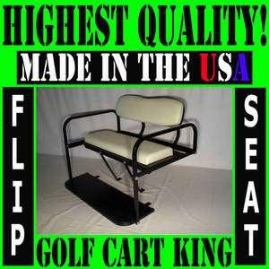 EZGO RXV Golf Cart Rear Flip Back Folding Seat Kit