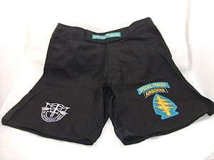 US ARMY SPECIAL FORCES SF MMA PT BLACK BOARD SHORTS