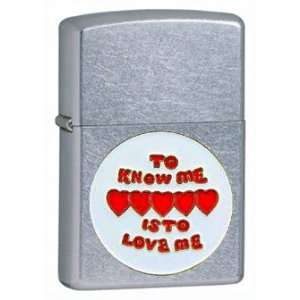 Zippo Custom Lighter   Novelty Funny Humor Saying to Know