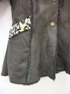 OshKosh Girls Brown Faux Fur Hooded Coat Size 3T