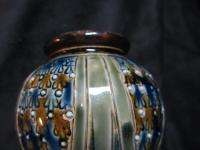 ART NOUVEAU VASE ROYAL DOULTON LAMBETH SALT GLAZE SCORED DESIGN