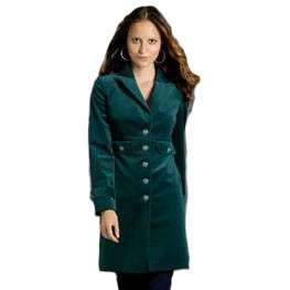 Sutton Studio Womens Long Velvet Military Jacket Coat   Assorted
