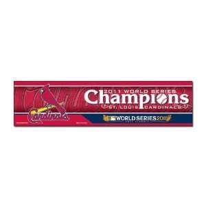 St. Louis Cardinals World Series Champions Bumper strips