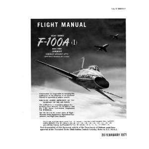 Aviation F 100 A Aircraft Flight Manual North American Aviation