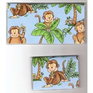 Checkbook Cover Debit Set Monkey Monkeys in Trees