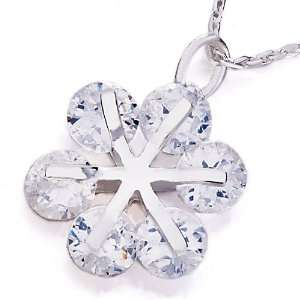 Clear Crystal Christmas Snowflake Pendant Necklaces Gifts