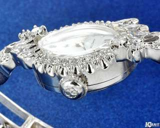 Ladies 14K White Gold Diamond Hamilton Watch Circa 1950s